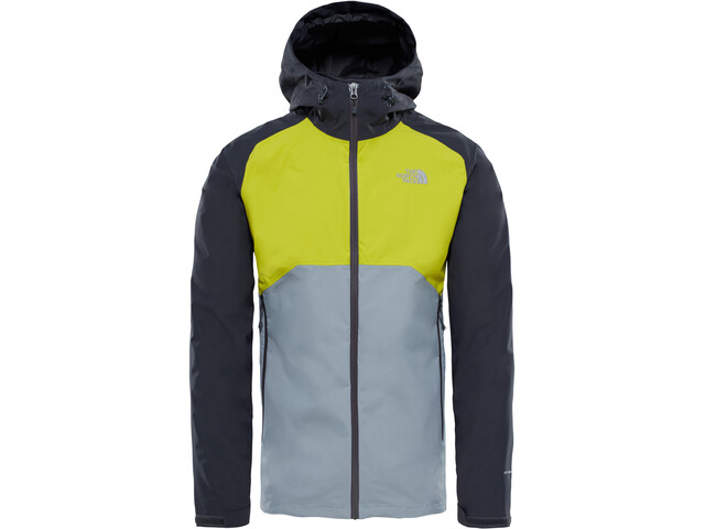 97b7bf41b318e The North Face Stratos Jacket Men Asphalt Grey Citronelle Green Mid Grey